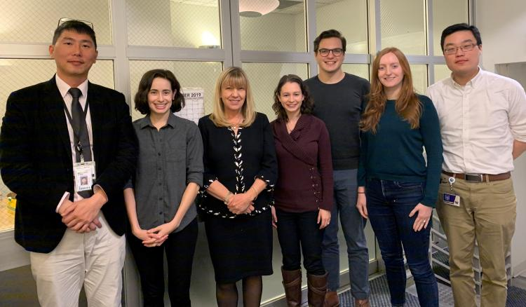 Trainees with Motulsky Lecturer, Dianna Milewicz in 2019