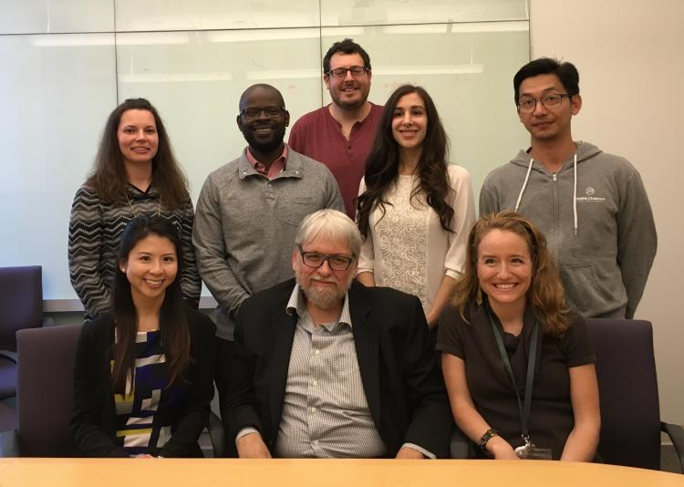 Trainees with Motulsky Lecturer, Jim Lupski in 2016